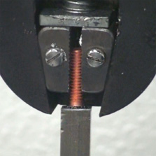 Stud installed in pull-tester