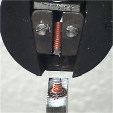 Stud broken by pull-tester